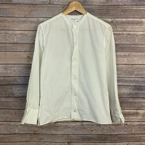 Yohji Yamamoto Collarless Button Down Shirt